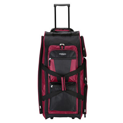 "Travelers Club Xpedition 30"" Upright Rolling Duffel - Crimson"