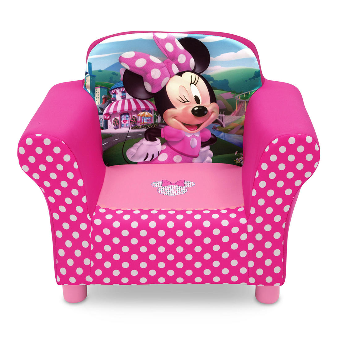 Outstanding Delta Children Disney Minnie Mouse Upholstered Toddler Chair Pdpeps Interior Chair Design Pdpepsorg