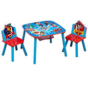 Delta Children Nickelodeon PAW Patrol 3-Pc. Table and Chair Set with Storage