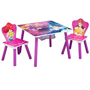 Delta Children Disney Princess 3-Pc. Table and Chair Set with Storage