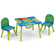 Delta Children Nickelodeon Teenage Mutant Ninja Turtles 3-Pc. Table and Chair Set with Storage