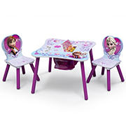 Delta Children Disney Frozen 3-Pc. Table and Chair Set with Storage