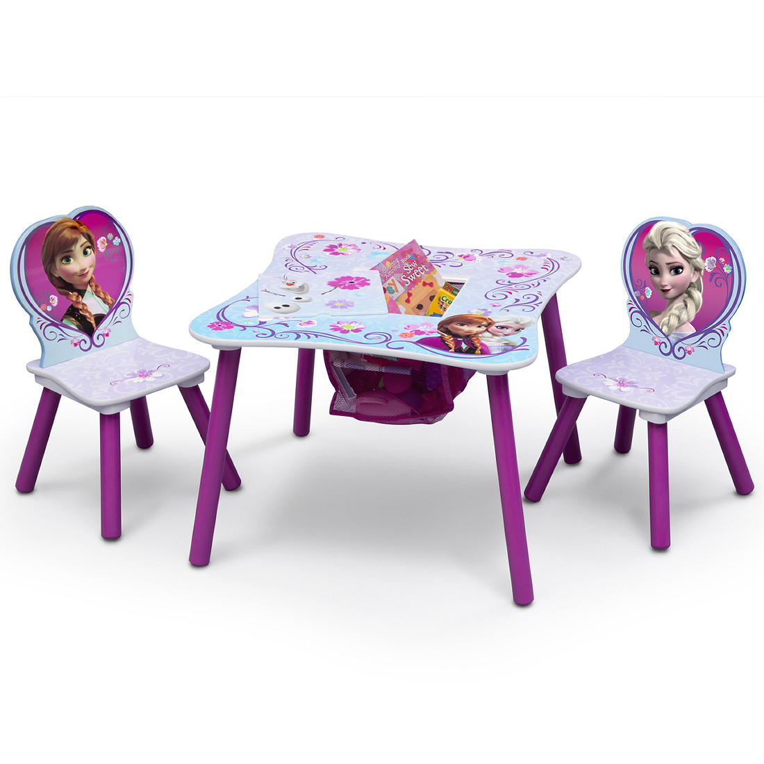 Pleasant Delta Children Disney Frozen 3 Pc Table And Chair Set With Storage Pdpeps Interior Chair Design Pdpepsorg