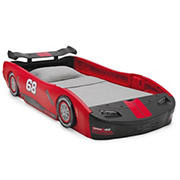 Delta Children Turbo Race Car Twin Size Bed - Red