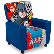 Delta Children DC Justice League Upholstered Youth Chair