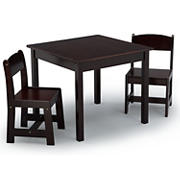 Delta Children MySize 3-Pc. Classic Table and Chair Set - Dark Chocolate