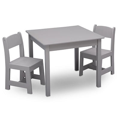 Delta Children MySize 3-Pc. Classic Table and Chair Set - Gray