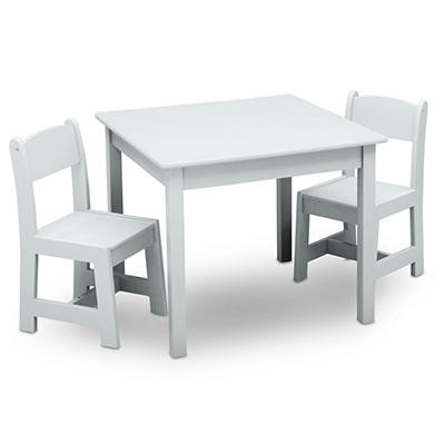 Delta Children MySize 3-Pc. Classic Table and Chair Set - Bianca White