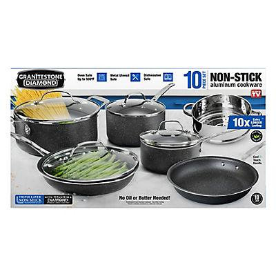 Granite Rock 10-Pc. Cookware Set