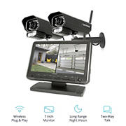 "Defender Phoenixm2 4-Channel 2-Camera Wireless Security System with 8GB DVR 7"" Monitor"