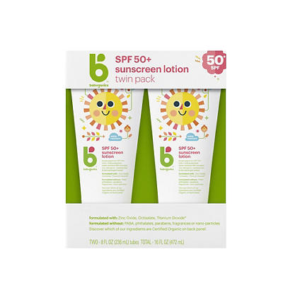 Babyganics Sunscreen SPS50 Lotion, 2 pk./8 oz.