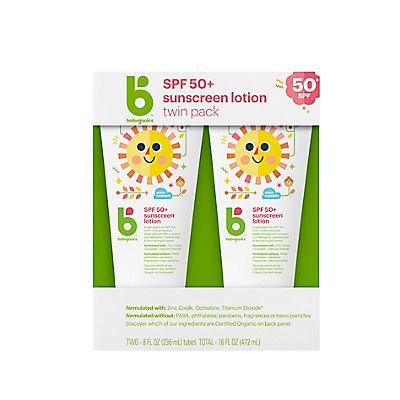 Babyganics Sunscreen SPS50 Lotion, 2 pk./8 oz.