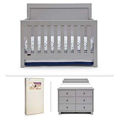 Simmons Kids Reagan 4-Pc. Nursery Set - Gray