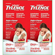Infants' Tylenol Oral Suspension, Cherry, 2 pk./2 oz.