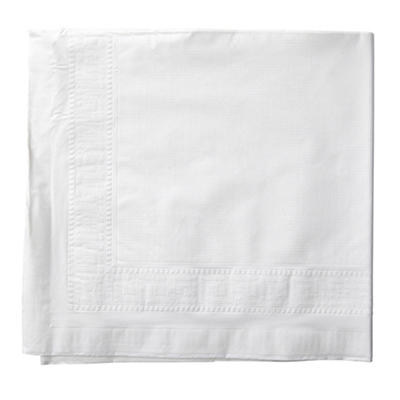 "Hoffmaster White Poly Lined 54"" x 108"" Banquet Table Covers, 25 ct."