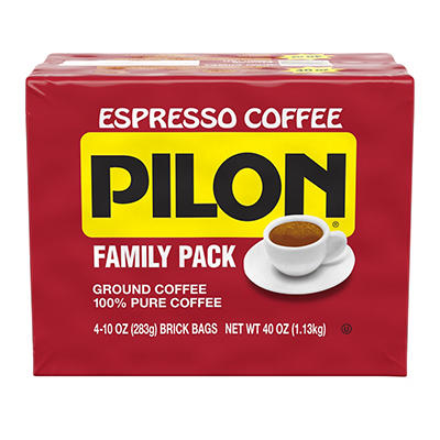 Cafe Pilon Espresso Coffee Family Pack, 4 ct./10 oz.