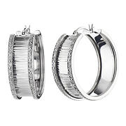 Amairah .25 ct. t.w. Diamond Hoop Earrings in Sterling Silver
