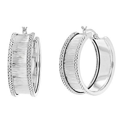 Amairah .25 ct. t.w. Diamond Hoop Earrings in Sterling Silver