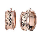 Amairah .25 ct. t.w. Diamond Hoop Earrings in Rose Gold Plated Sterling Silver