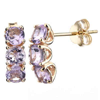 Amairah 1.75 ct. t.w. Amethyst Earrings in Sterling Silver