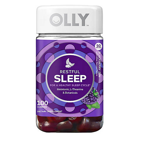 Olly Restful Sleep Dietary Supplement 100 Ct Bjs Wholesale Club