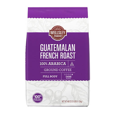 Wellsley Farms Guatemalan French Roast Ground Coffee, 40 oz.