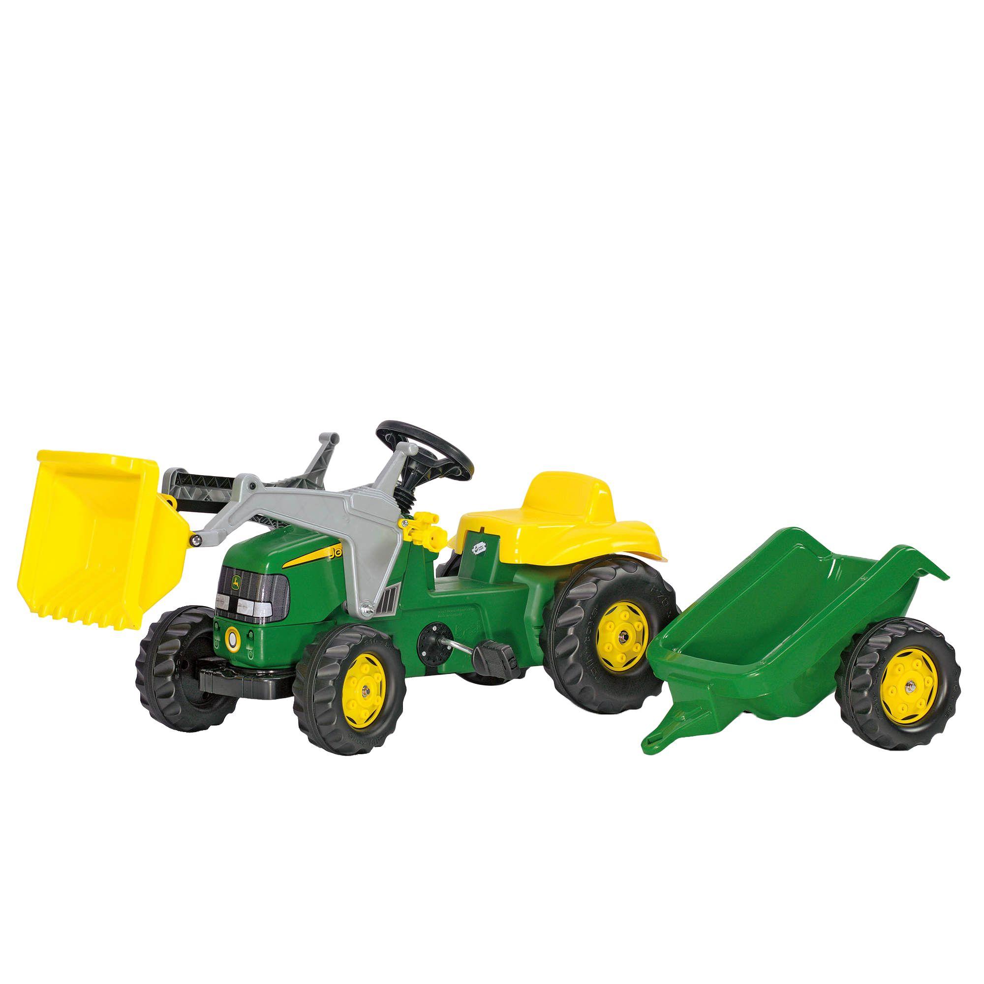 John Deere Kid Tractor With Loader And Trailer Bjs