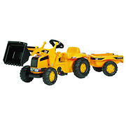 CAT Kid Tractor with Loader and Trailer
