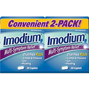 Imodium Multi-Symptom Gas Relief and Anti-Diarrheal Remedy Caplets, 2 pk./30 ct.