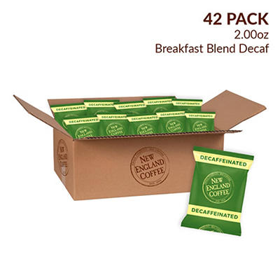New England Coffee Decaffeinated Blend Individual Packs, 42 pk./2 oz.