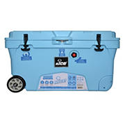 nICE 75-Qt. Roto Molded Cooler With Wheels - Light Blue