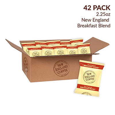 New England Coffee Breakfast Blend Coffee Individual Packs, 42 pk./2.25 oz.