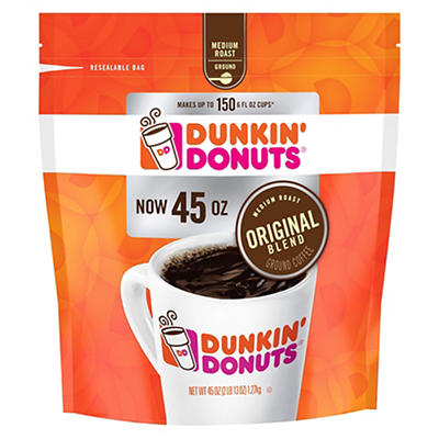 Dunkin Donuts Ground Coffee, 45 oz.