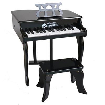 Schoenhut 30-Key Fancy Baby Grand Piano - Black