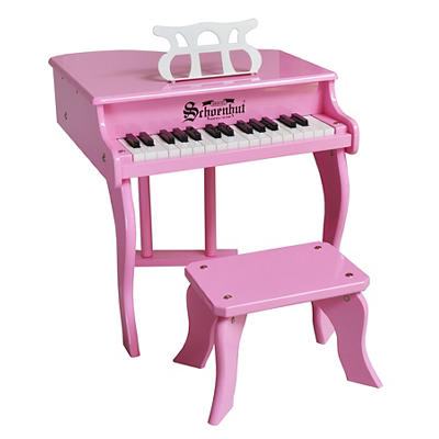 Schoenhut 30-Key Fancy Baby Grand Piano - Pink