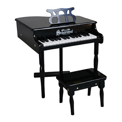 Schoenhut 30-Key Classic Baby Grand Piano - Black