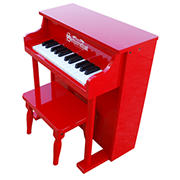 Schoenhut 25-Key Traditional Spinet Piano - Red