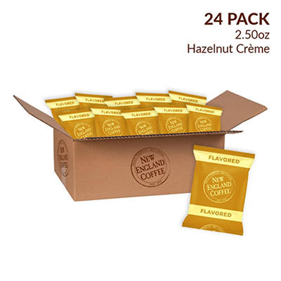 New England Coffee Hazelnut Creme Coffee Individual Packs, 24 pk./2.5 oz.