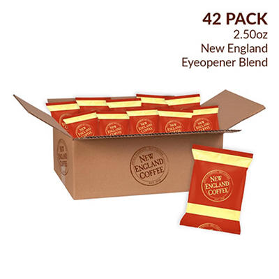 New England Coffee Eye Opener Individual Packs, 42 pk./2.5 oz.