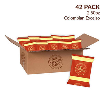 New England Coffee Colombian Excelso Individual Packs, 42 pk./2.5 oz.