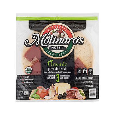 Molinaro's Organic Stone Baked Pizza Kit, 2.51 lbs.