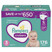 Pampers Cruisers Diapers, Size 3, 176 ct.