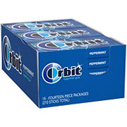 Orbit Peppermint Sugar Free Gum, 15 pk./14 ct.