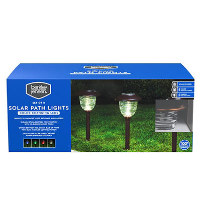 Berkley Jensen 5-Lumen Solar Color-Holding Pathway Lights, 8 pk. - Oil