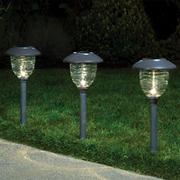 Berkley Jensen 5-Lumen Solar Color-Holding Pathway Lights, 8pk. - Weathered Zinc