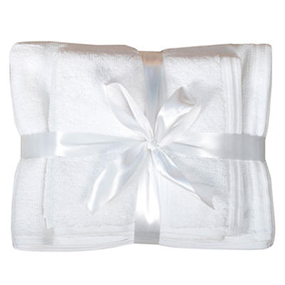 Berkley Jensen Cotton Hand Towel and Wash Cloth Set, 4 pk. - White