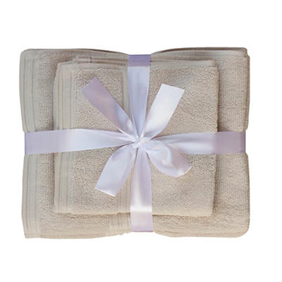 Berkley Jensen Cotton Hand Towel and Wash Cloth Set, 4 pk. - Gray