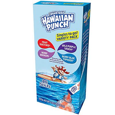 Hawaiian Punch Sugar Free Drink Mix Variety Pack, 80 ct.