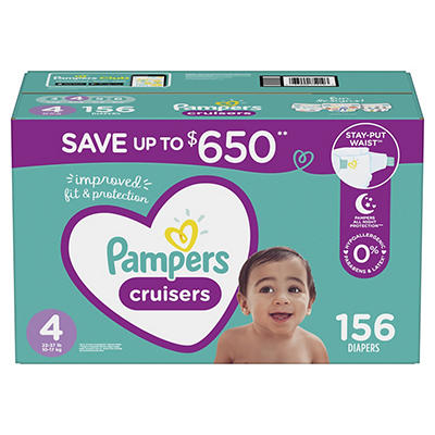 Pampers Cruisers Diapers, Size 4, 156 ct.