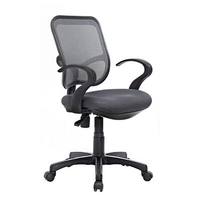 Techni Mobili Mesh Task Chair - Gray